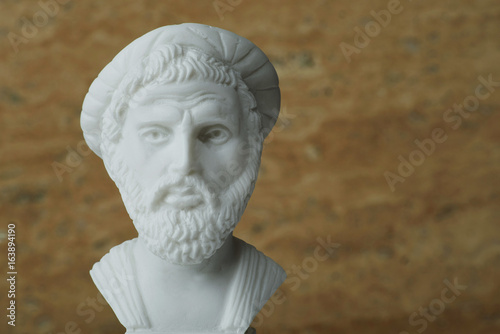 Statue of Pythagoras,ancient greek mathematician and geometer.