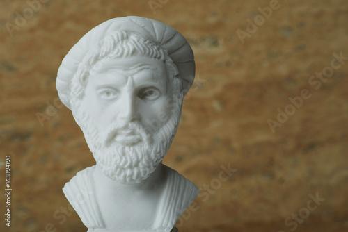 Cuadros en Lienzo Statue of Pythagoras,ancient greek mathematician and geometer.