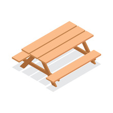 Isometric Street Wooden Table ...