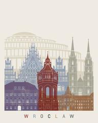 Fototapeta na wymiar Wroclaw skyline poster
