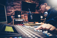 Music Producer Working On Soun...