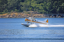 Seaplane Taxiing For Takeoff