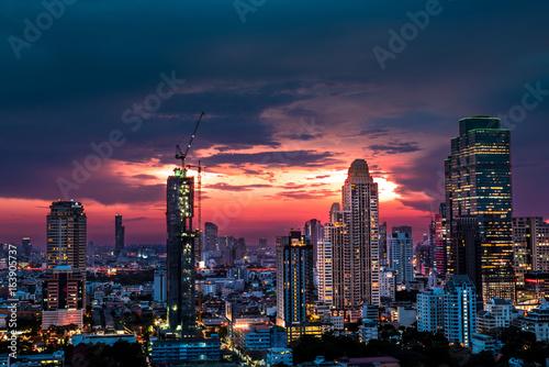 Modern building increasing number in Bangkok Poster