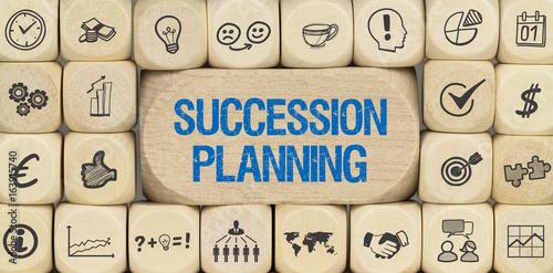 Obraz na dibondzie (fotoboard) Planowanie sukcesji / sześcian z ikonami