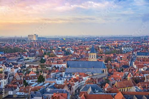 In de dag Brugge Bruges cityscape