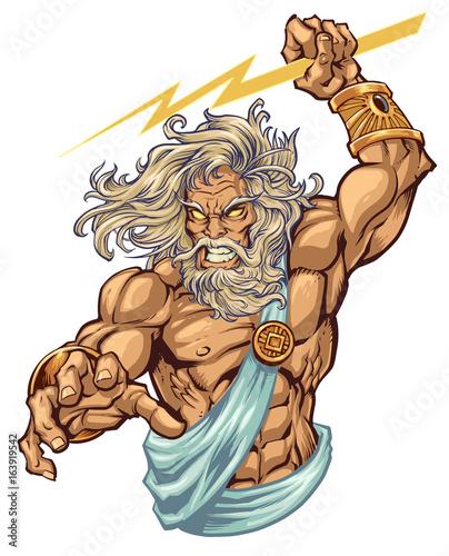 Fotografie, Obraz  Zeus Illustration I created