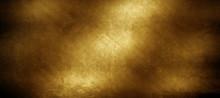 Grunge Golden Metal Plate Background