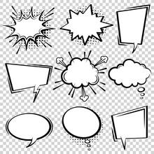 Comic Speech Bubble Set. Empty...