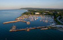 Aerial View Of The Waterfront ...