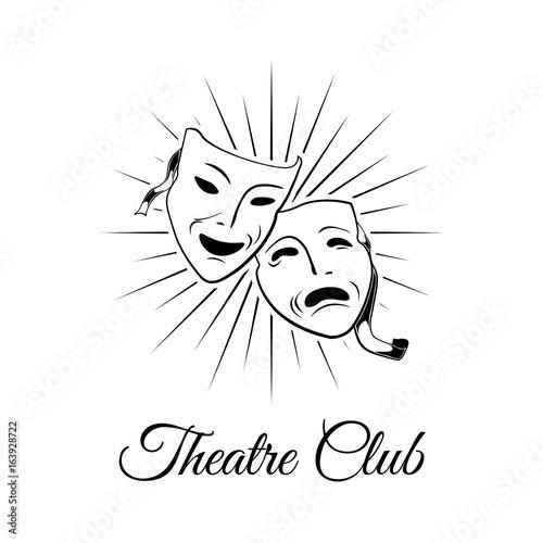 Fotografija  Comedy and tragedy theatrical masks