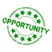 Grunge Green Opportunity Round...