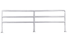 Stainless Steel Railing Isolated.