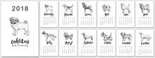 2018 Vector Calendar Design Wi...