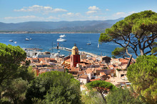 View Of Saint Tropez Harbor On The French Riviera