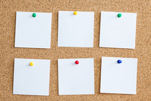 Six White Memo Reminder Cards ...