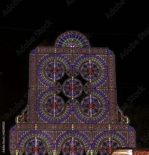 Fotografie, Obraz  Le luci della festa di paese