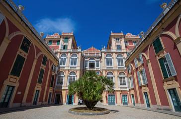 Fototapeta na wymiar GENOA (GENOVA), JULY, 2, 2017 -  Palazzo Reale in Genoa, Italy, The Royal Palace,  in the italian city of Genoa, UNESCO World Heritage Site, Italy.