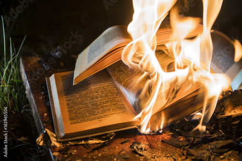 Fotografiet  burning books