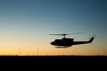 Fototapeta na wymiar Huey helicopter flight