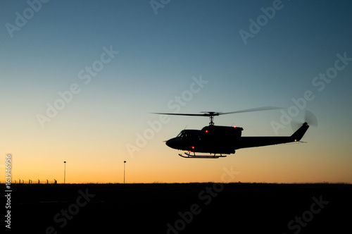 Photo  Huey helicopter flight