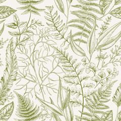 FototapetaSeamless pattern with leaves.