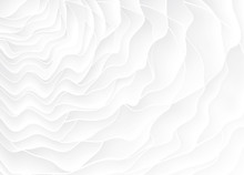 White Texture. Wavy Background. Interior Wall Decoration. 3D Vector Interior Wall Panel Pattern.