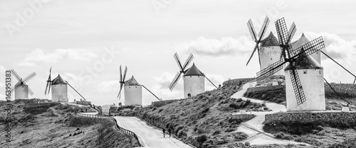 Fotografie, Obraz  The road near windmills