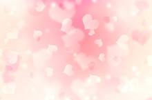 Heart Shaped Bokeh Pink Blurre...