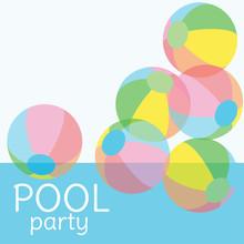 Pool Party Invitation Vector B...