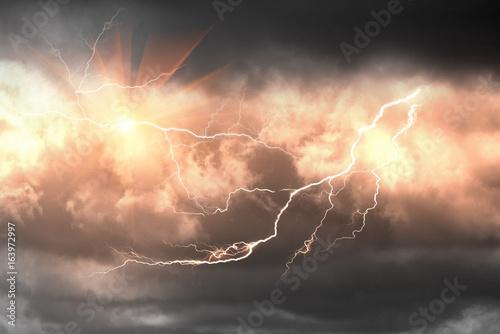 Valokuva  Dangerous Lightning Storm