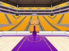 Large Modern Basketball Arena ...