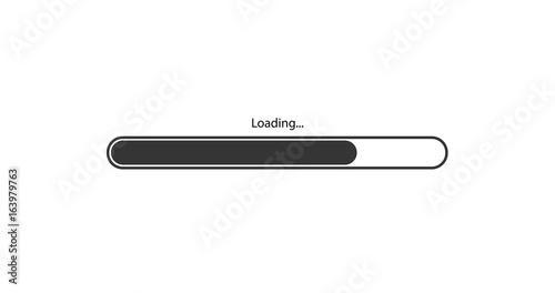 Pinturas sobre lienzo  vector modern black loading bar on white background