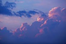 Sunset Over  Great Purple Clouds, Twilight