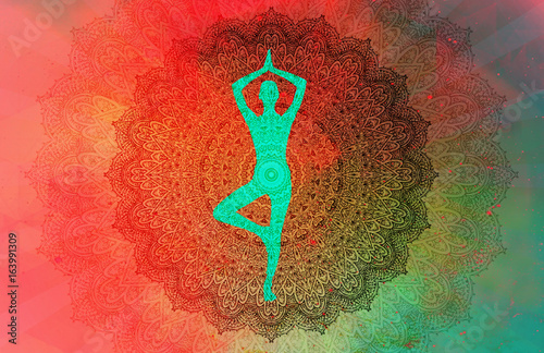 Yoga Mandala Wallpaper Mural