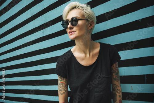 Fotografie, Obraz  Tattoo Woman Style Glamour Alternative Lifestyle Concept
