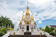 Wat Tham Kuha Sawan Located Near The Border Of Thailand And Laos, In Ubon Ratchathani Province Of Thailand.