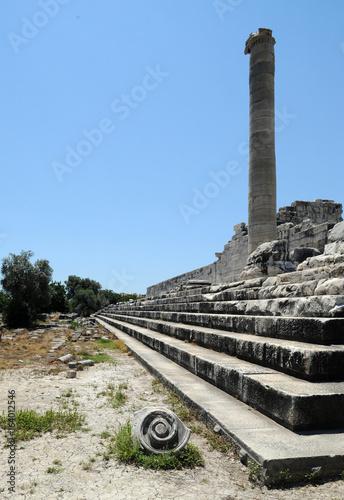 Fotografering  Stylobate du temple d'Apollon à Didymes en Anatolie