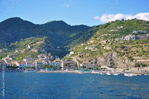 Photo Stands Egypt Multilevel towns on the cliffs of the Amalfi coast
