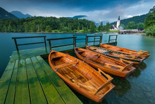 Wooden Leisure Boats At Wooden...