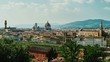 Summer cityscape of Florence in Italy. A popular destination among tourists from all over the world
