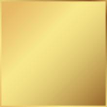 Gold Background In Frame. Light Realistic, Metallic Golden Gradient Template. Metal Decoration. Vector