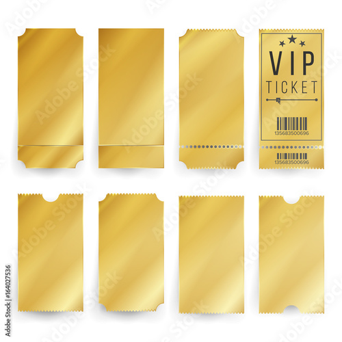 Vip Ticket Template Vector Canvas Print