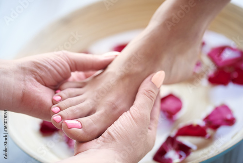Poster Pedicure Spa treatment for tired feet