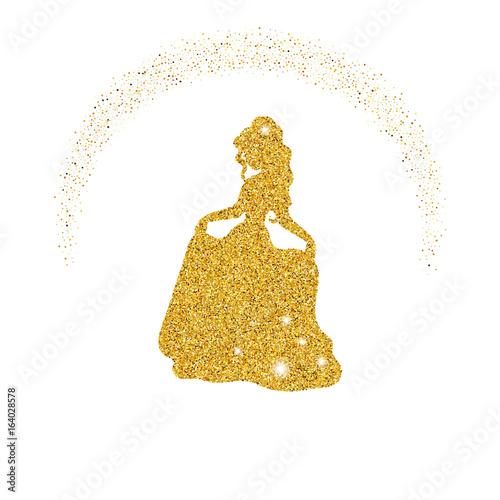 Fotografía  Princess with dust glitters.