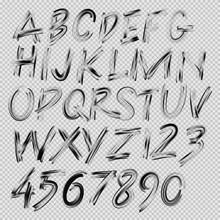 Handwritten Brush Font, Letter...