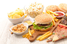 Selection Of Junk Food,fast Food