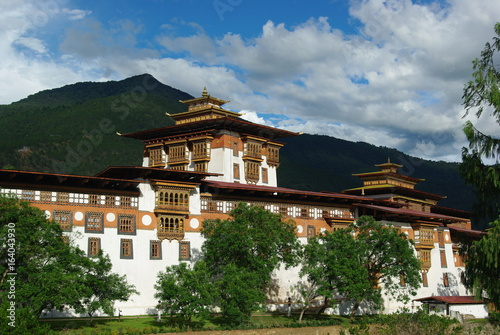 Views of Punakha Dzong in Bhutan Poster Mural XXL