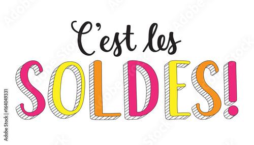 """Fotografie, Obraz  Bannière """"C'EST LES SOLDES"""""""