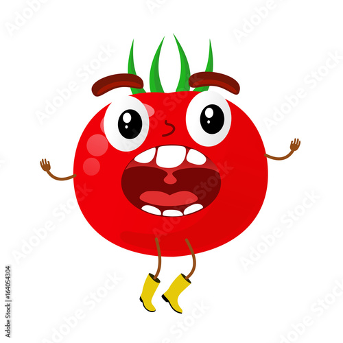 Tomatoes cartoon illustration