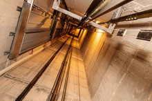 Elevator Shaft And Corridor In A Building